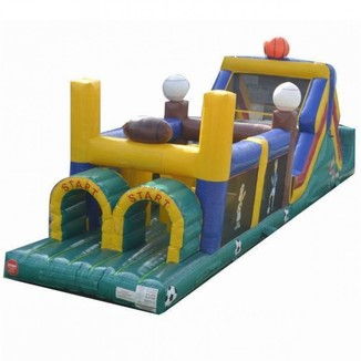 50 foot sports obstacle course inflatable bounce rental