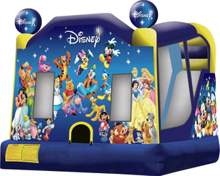Disney Friends inflatable bounce house rental